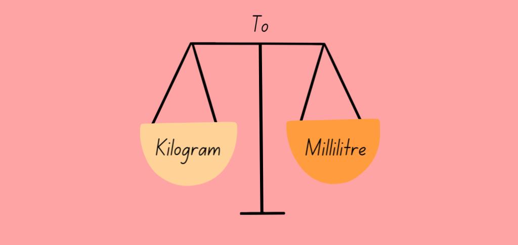 Kilograms to mililitres