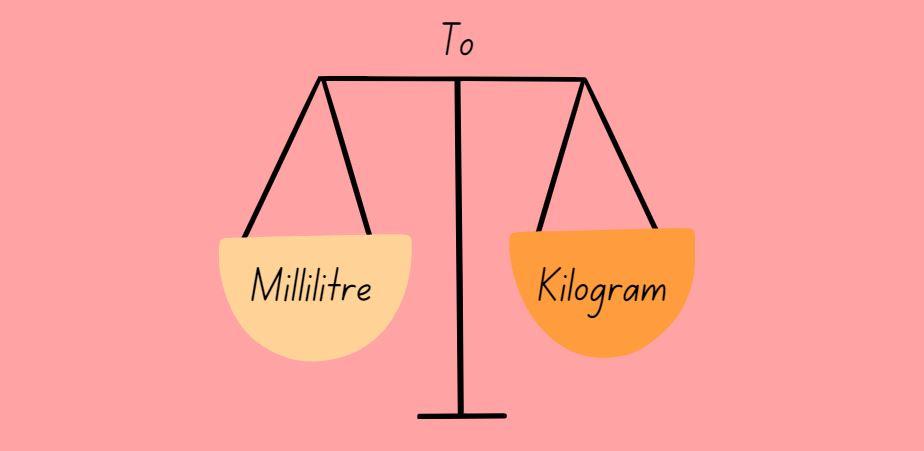 milliliter to kilograms